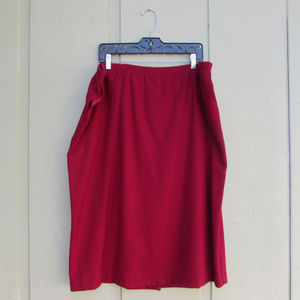 Alfred Dunner 100% Wool Red Skirt W/ Side Pockets!
